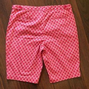 Laundry By Shelli Segal Shorts - Laundry Pink and White Bermuda shorts